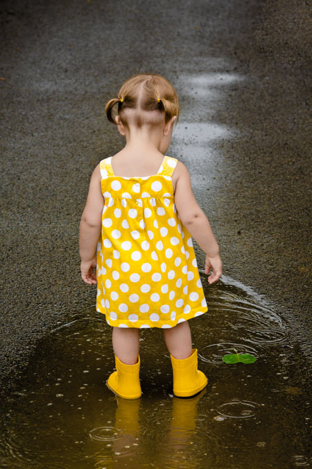 Serena playing in the rain. Captured by Smith Photography.