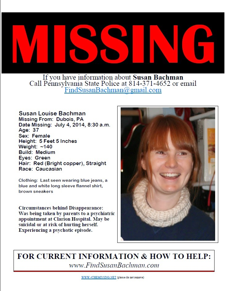 SusanBachmanMissingPoster2  Missing Person Posters