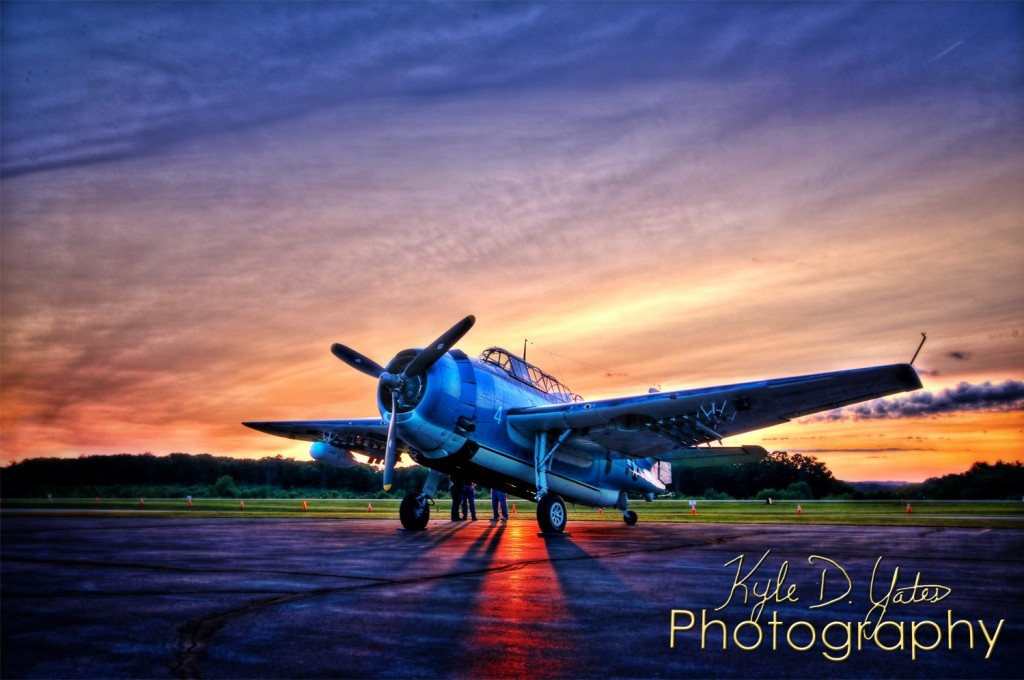 Grumman TBF Avenger at the Clarion County Airport Open House. The event continues through Sunday. Photo by Kyle Yates Photography (Facebook.com/YatesPhoto).