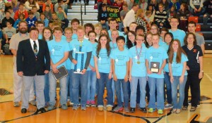 """""""The Mayor, David Walters of Clarion came to the high school today and announced a proclamation that today is Clarion Robotics Day to the team and the entire student body."""""""
