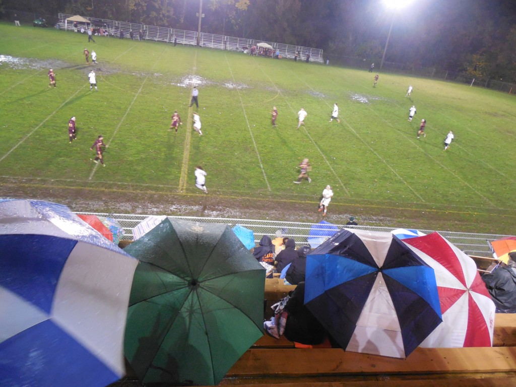 Photo taken at the Clarion-ECC D-9 Quarter-Final Soccer Match at Clarion on Tuesday night. Submitted by Dave McClaine.