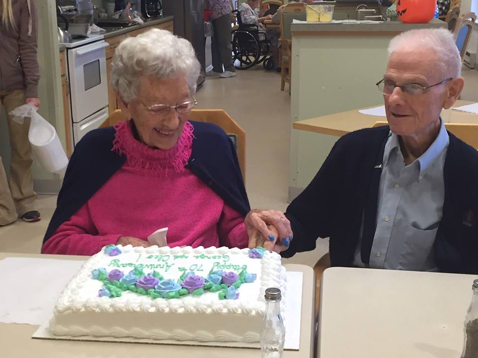 Cleo & George recently celebrated their 70th Wedding Anniversary. Photo courtesy WRC Senior Services.