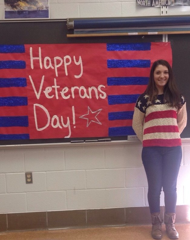 """""""The students at West Forest Elementary and Secondary School hosted an assembly to recognize veterans from surrounding areas.  Veterans had to opportunity to speak to students about what veterans Day means to them and about their time in the military."""" Submitted by Darla Kennedy."""