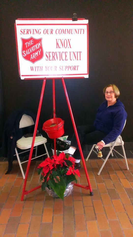 Diane Gunya, a volunteer for Charitable Deeds collecting donations for the Salvation Army at the Clarion Mall.