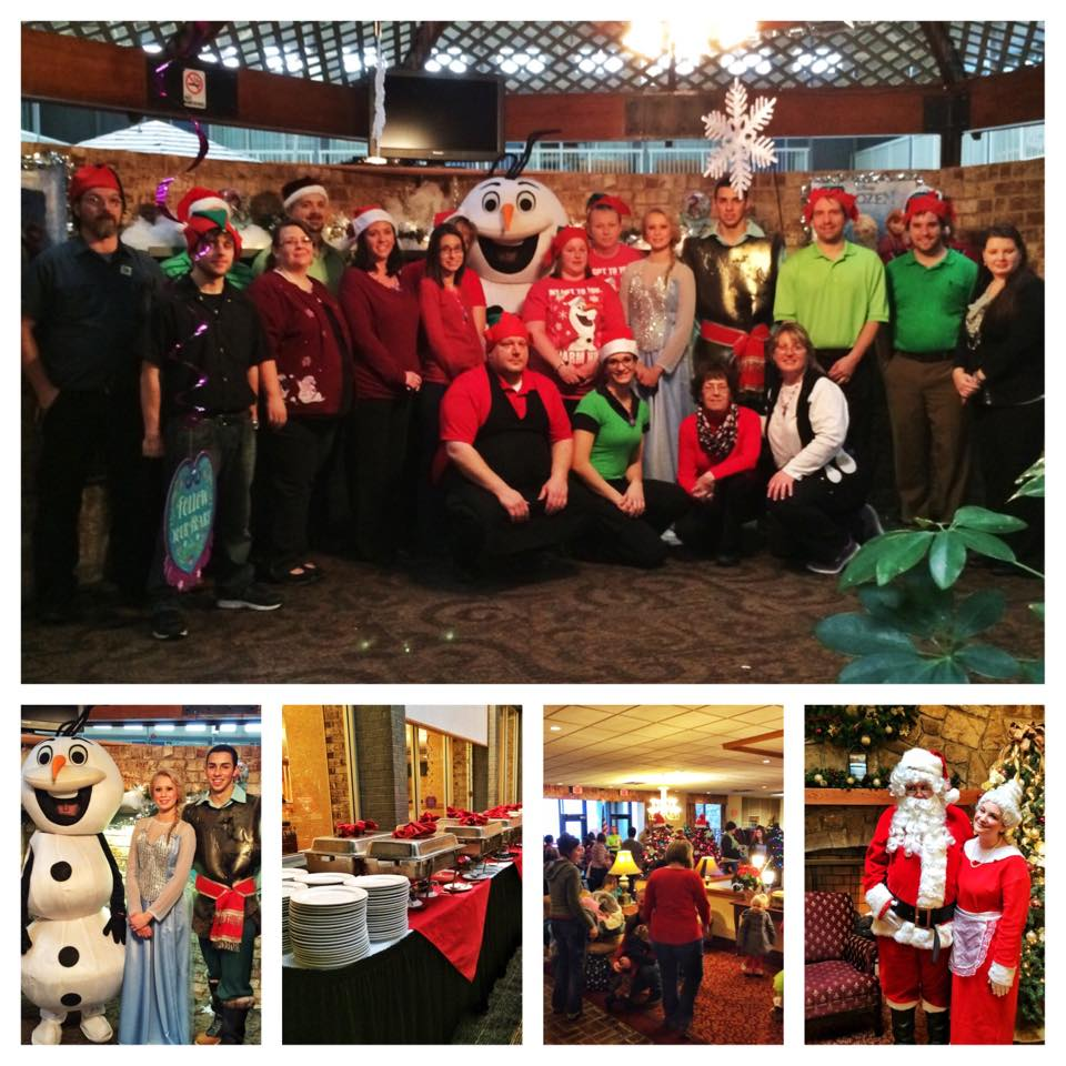 Breakfast with Santa, Mrs. Claus, Elsa, Olaf, and Kristoff at Holiday Inn Clarion on Saturday, December 13, 2014.