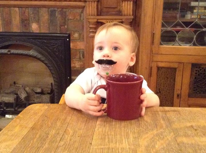 """""""We start them young at Michelle's Café! Little Nolan is very mature for his age."""" Photo submitted by Michelle's Café."""