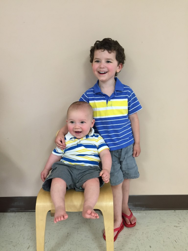 Brothers Joseph and Grant Brocious at Grant's 1st Step Preschool (Clarion) Graduation on May 19. Joseph and Grant are the sons of Dan and Shaina Brocious.