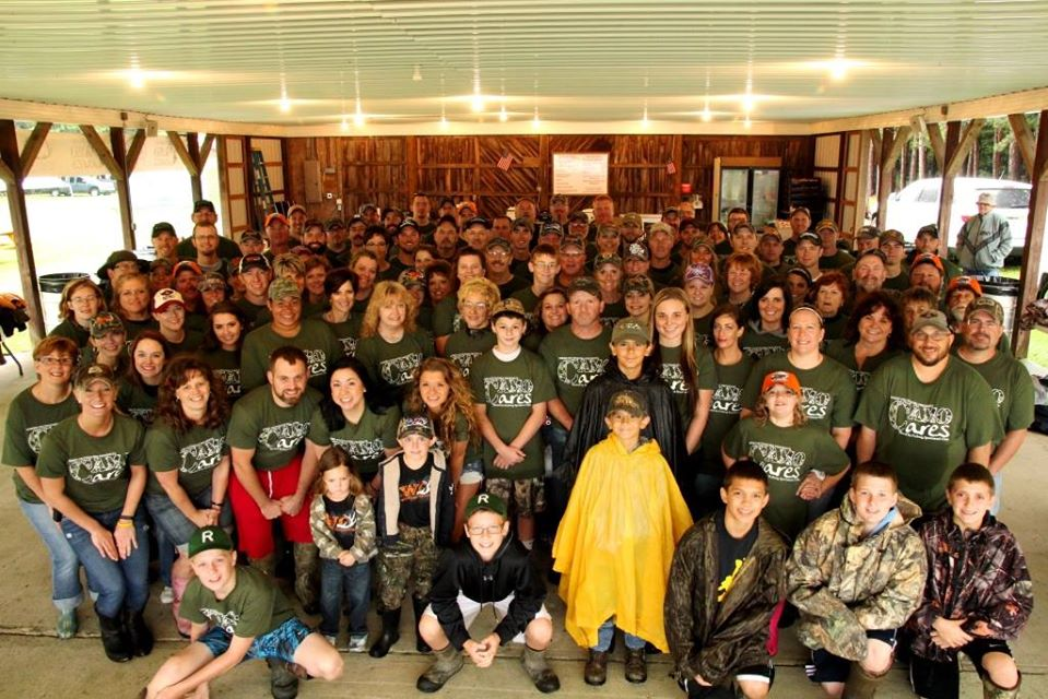 """If you live in Clarion County, you probably know just how terrible the weather was this past weekend. It didn't stop hundreds of people from coming out to support the 6th Annual Camo Cares event at the Fryburg Sportsman's Club Farm where we raise money to send children suffering from life threatening illnesses and wounded veterans on their hunt of a lifetime. This photo is the pic of over 160 volunteers who make the day happen."" - Jason Say"