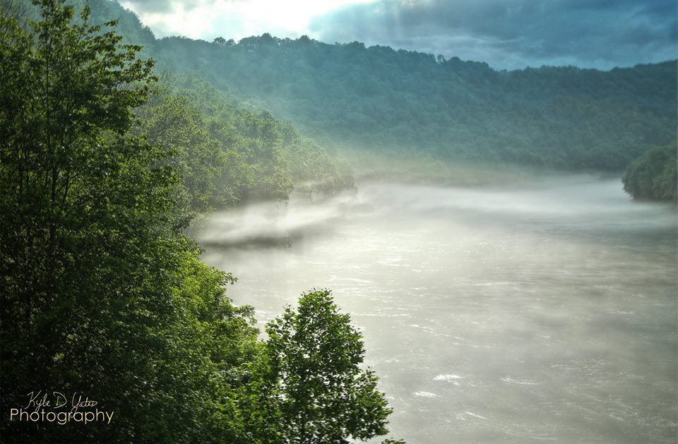 I love watching fog. In Emlenton, it had 3 or 4 layers that day. Here are two layers of fog on the Allegheny River after a rain storm.  Photo courtesy of Kyle Yates Photography.