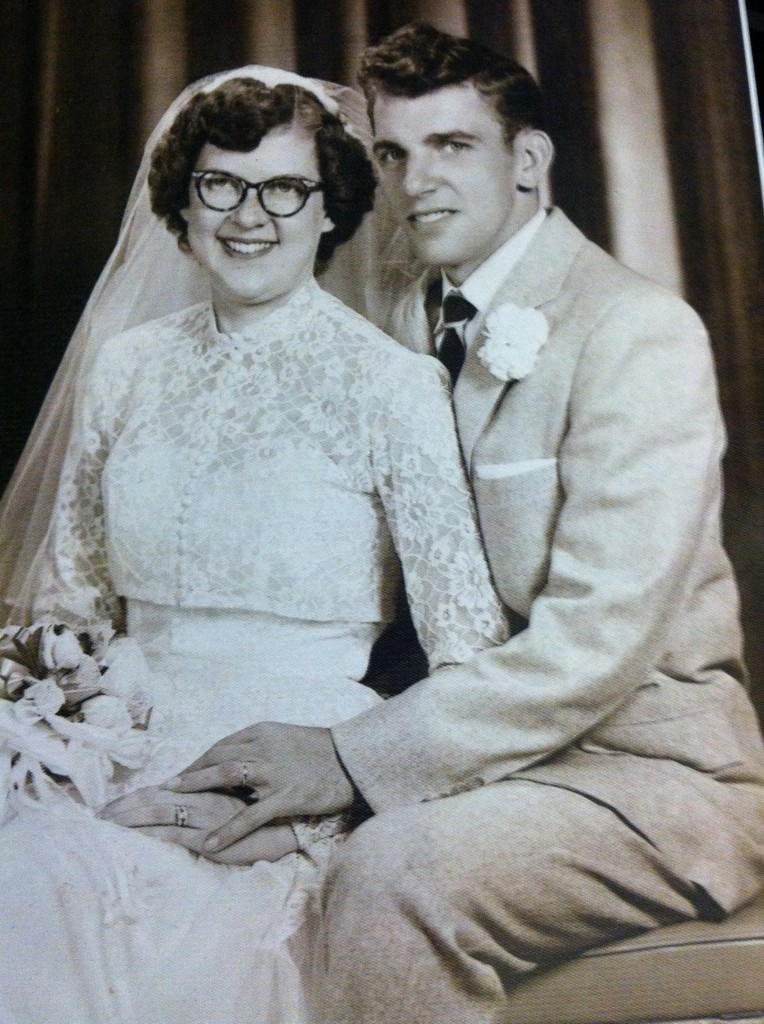 """Don and Marie Cyphert on their wedding day. Happy 60th Wedding Anniversary!""  Submitted by their grandson, Travis Siegel."