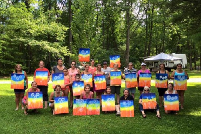 Another great painting class at Campers Paradise!