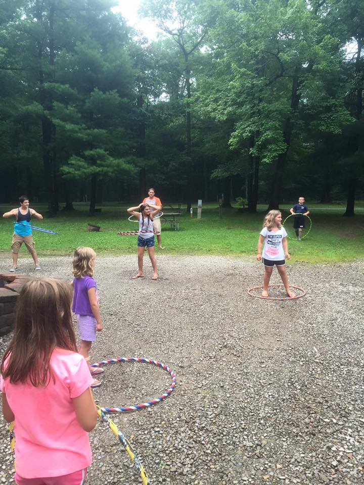 """Hula hoop contest!"" Photo courtesy of Campers Paradise."