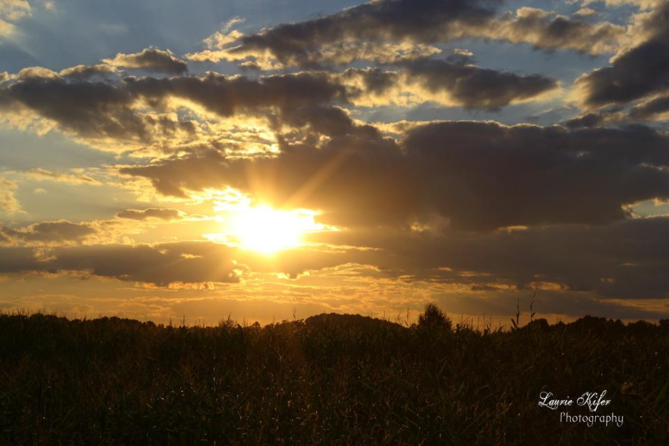 """""""Sunset in the country on August 24, 2015."""" Submitted by Laurie Kifer."""