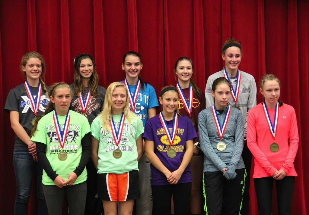 Class-A individual female D9 medalists